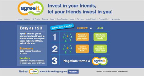 App per accedir a préstecs d'amics de Facebook?