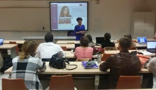 Sesión en ESCI-Upf con Tameka Montgomery, de la Agencia Americana de Apoyo a Emprendedores (SBA)