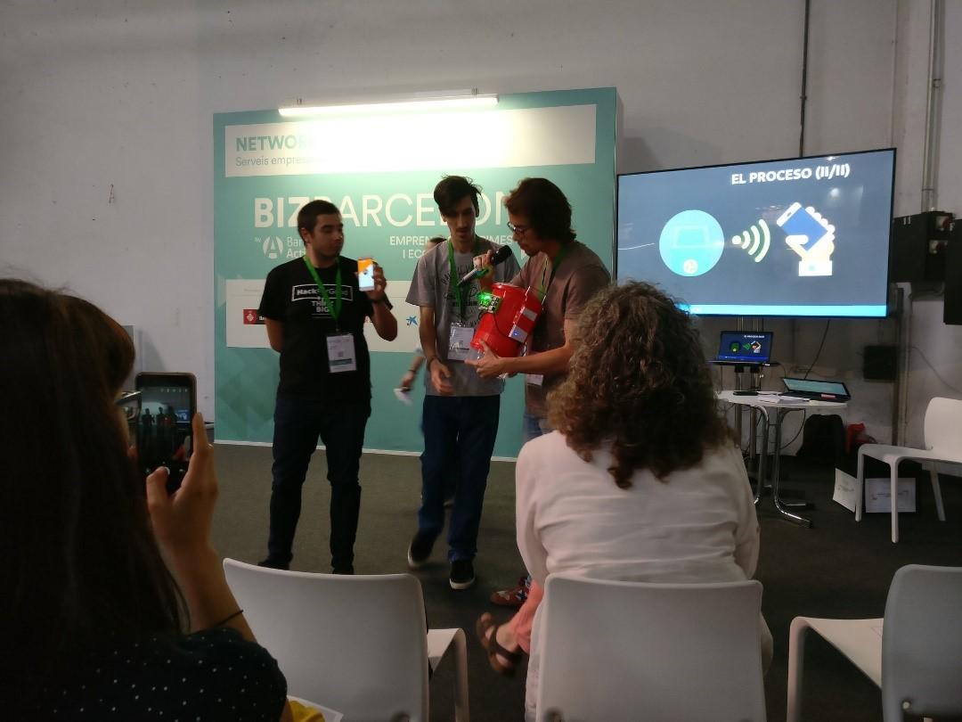 Presentación del proyecto Smart Bin en el Biz Barcelona