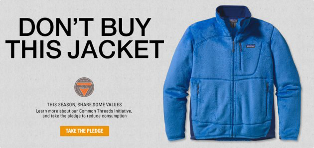 "Campaña ""Don't buy this jacket"" de Patagonia"