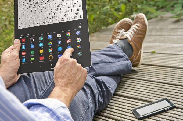 Tabletas con tinta inteligente para traducir webs en braille